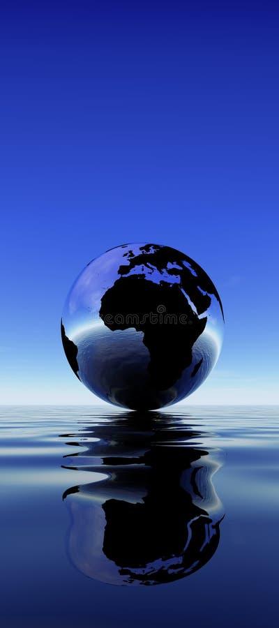 ziemska odbicie wody royalty ilustracja