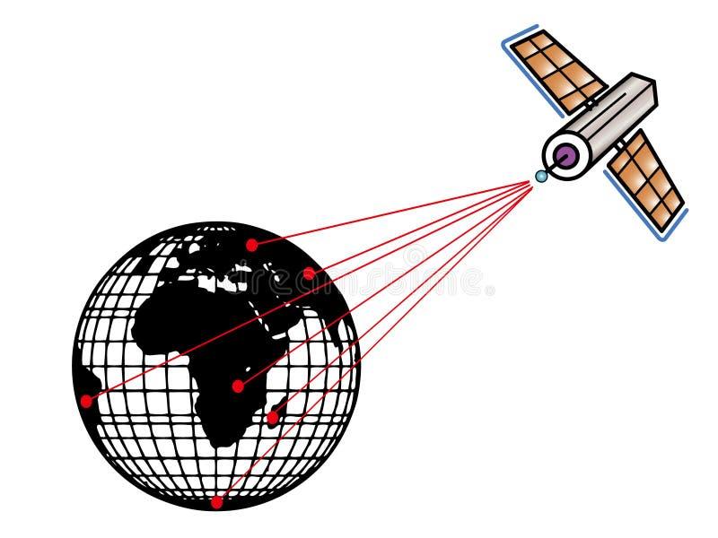 ziemska satelita ilustracji