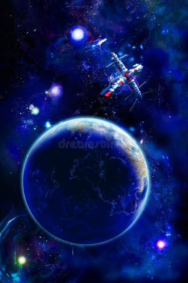 ziemska stacja kosmiczna ilustracji