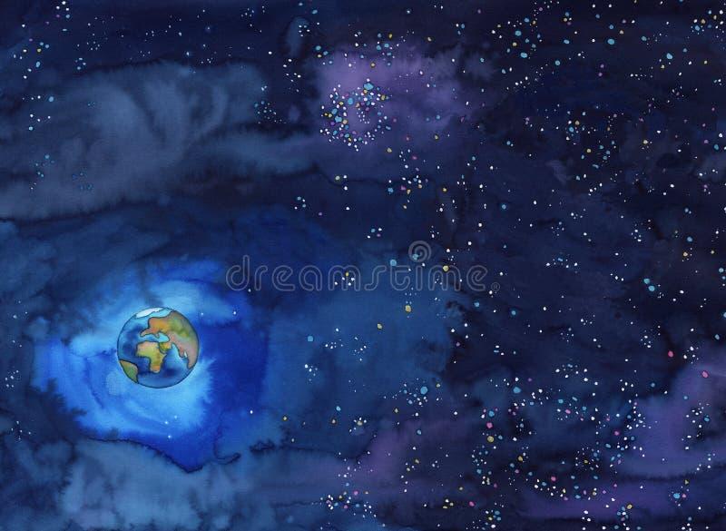 ziemski świat ilustracja wektor