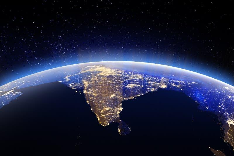 Ziemski świat od przestrzeni Elementy ten wizerunek meblujący NASA ilustracja wektor