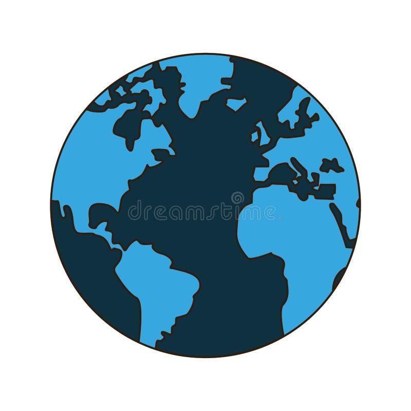 Ziemski świat odizolowywający ilustracji