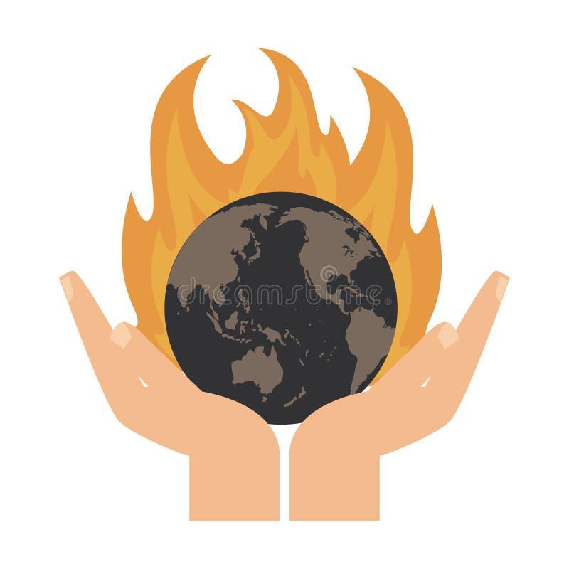 Ziemski światowy palenie ilustracja wektor