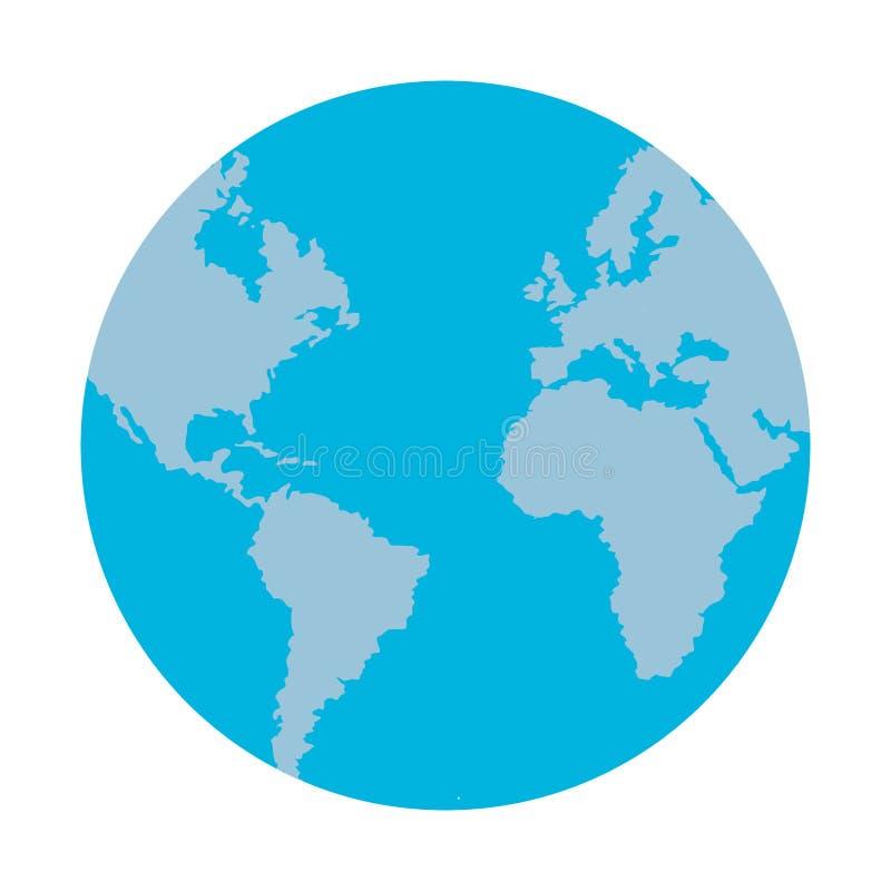 Ziemski światowy symbol royalty ilustracja