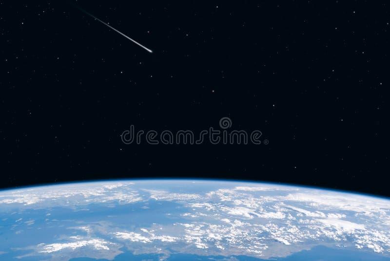ziemski astronautyczny widok royalty ilustracja