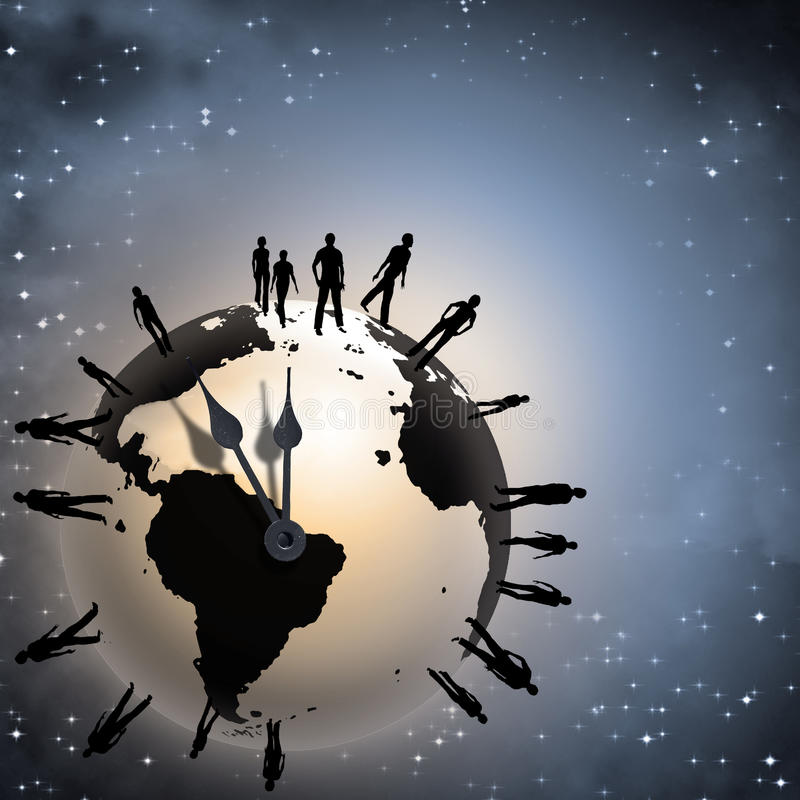 ziemski czas royalty ilustracja