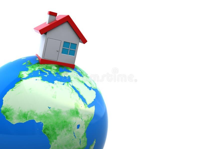 ziemski dom ilustracji