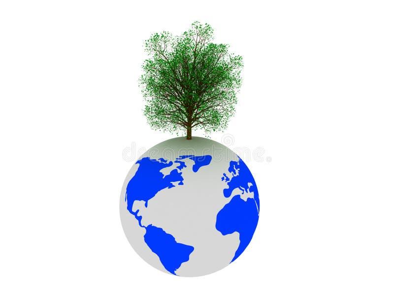 ziemski drzewo ilustracja wektor