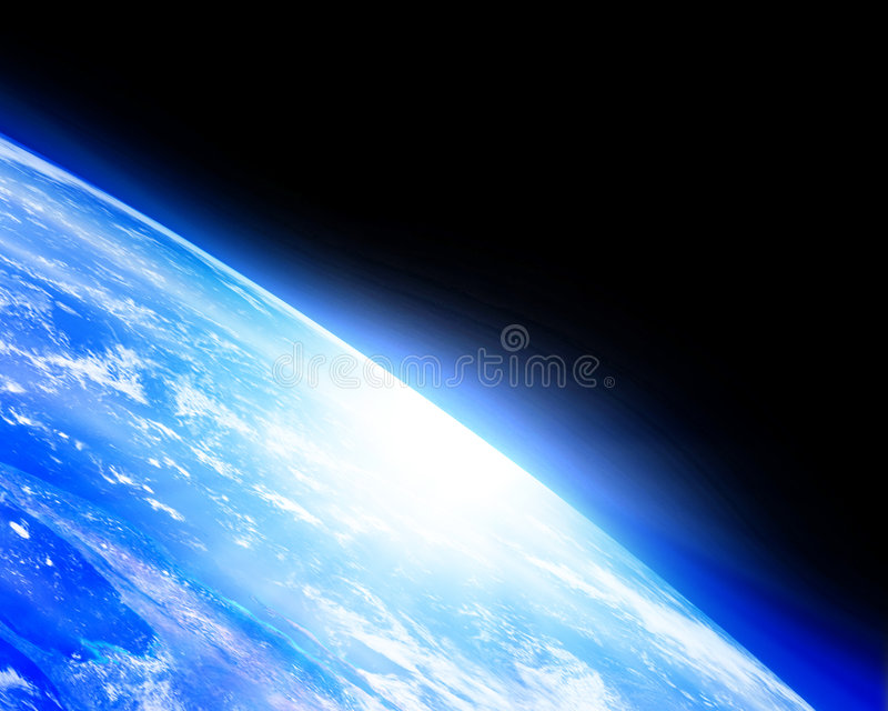 Ziemski horyzont ilustracji