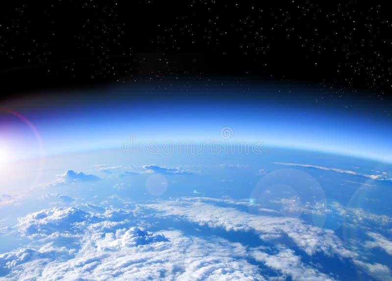 ziemski ilustracyjny astronautycznego wektoru widok zdjęcie stock