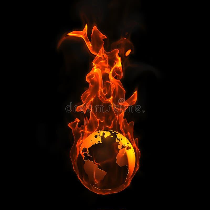 ziemski ogień royalty ilustracja
