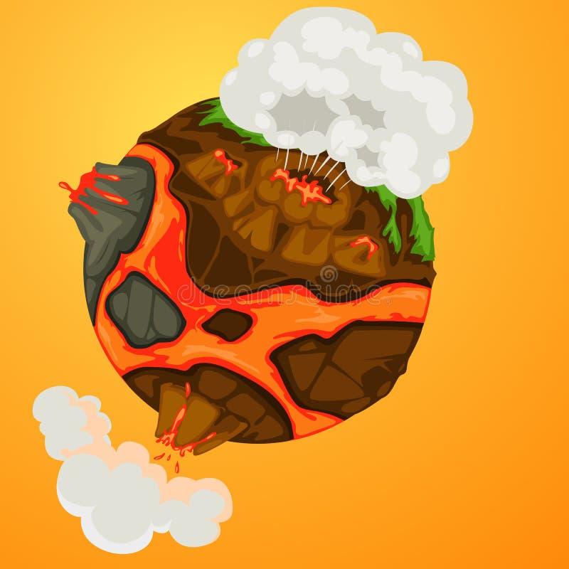 ziemski wulkan royalty ilustracja