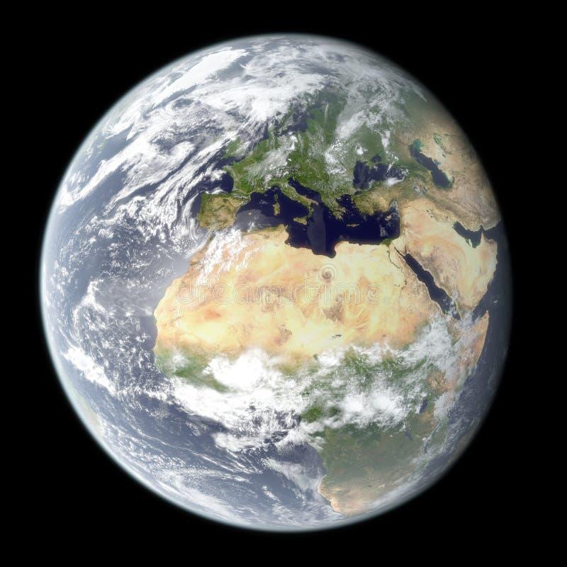 ziemski wysoki planety renderingu postanowienie royalty ilustracja