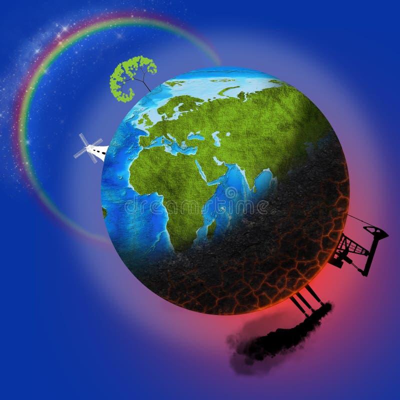 Ziemski zanieczyszczenie ilustracja wektor
