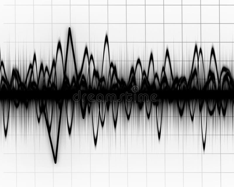 Ziemskie trzęsienie linie ilustracji