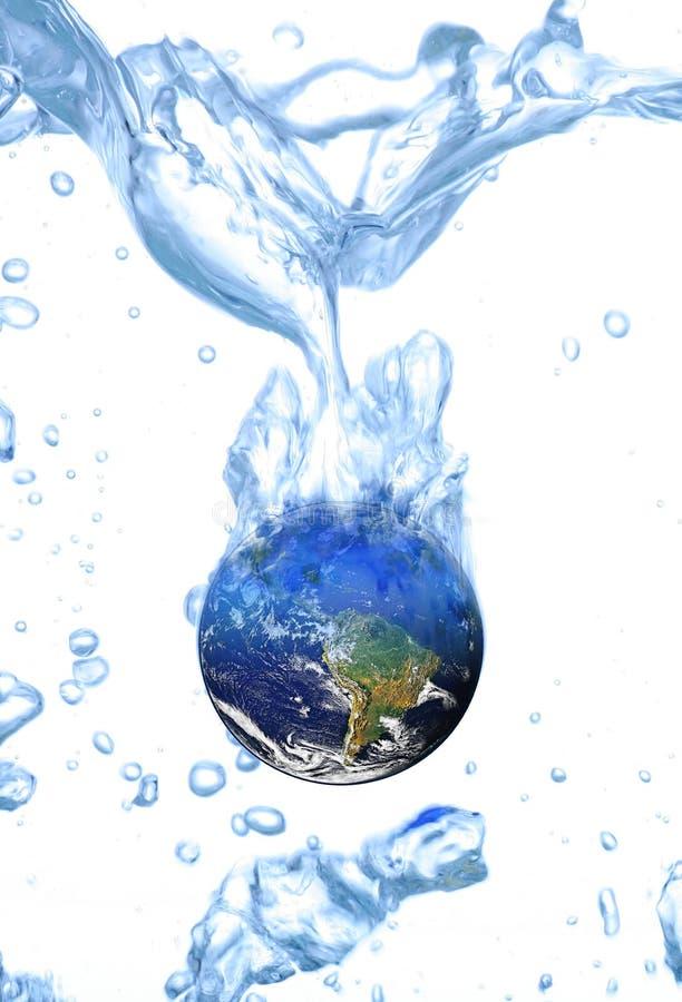 Ziemskiego wodnego pojęcia globalny nagrzanie zdjęcie royalty free