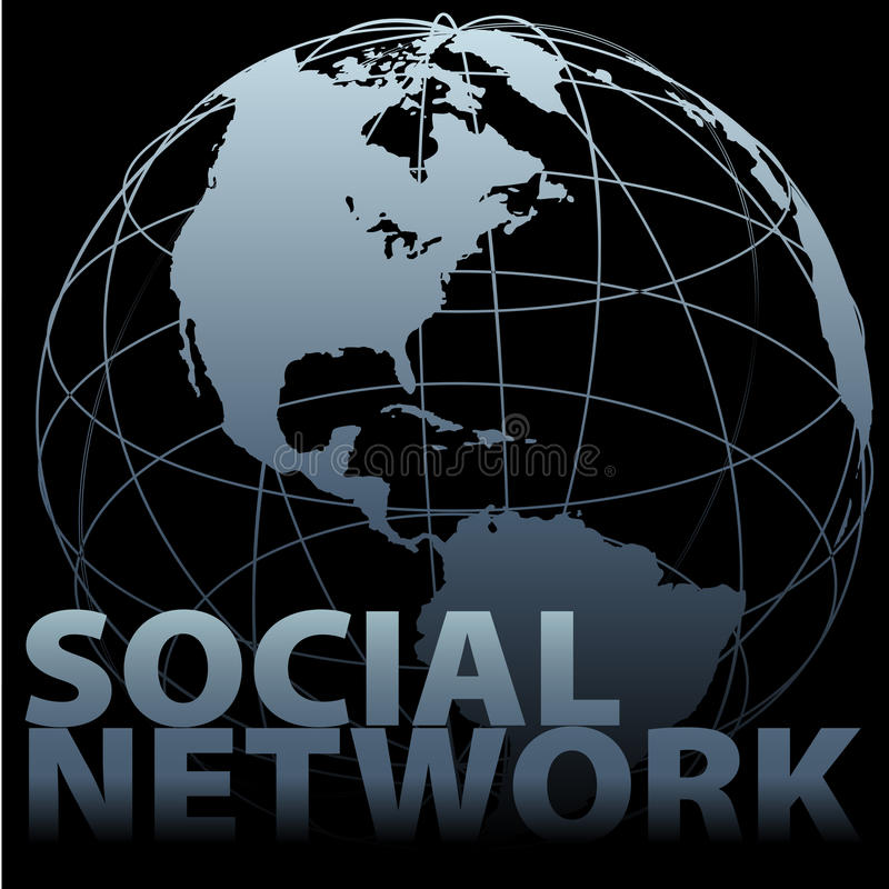 ziemskiej globalnej kuli ziemskiej medialny sieci socjalny