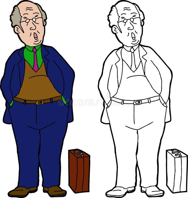 Ziewający biznesmen ilustracji