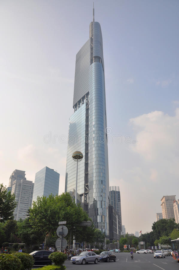 Zifeng Tower in Nanjing, China royalty free stock image