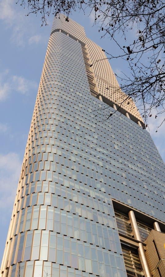 Zifeng Tower Nanjing. The exterior of the Zifeng Tower in Nanjing China located in Jiangsu province stock photo