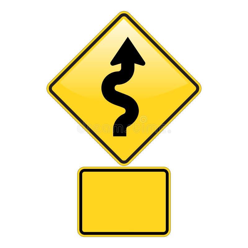 zig zag предупреждения дороги иллюстрация штока