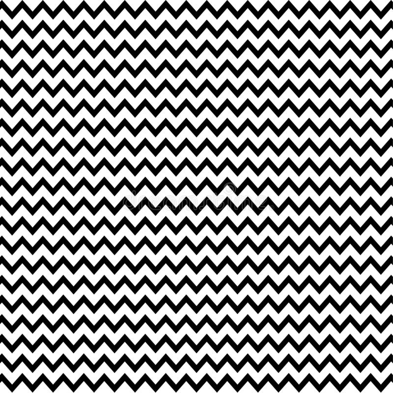 Zig zag black and white lines pattern vector illustration stock photos