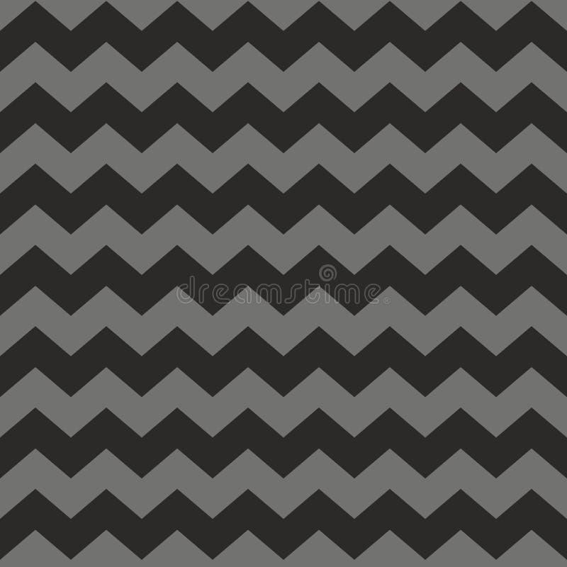 Zig Zag Chevron Black Pink And White Tile Vector Pattern