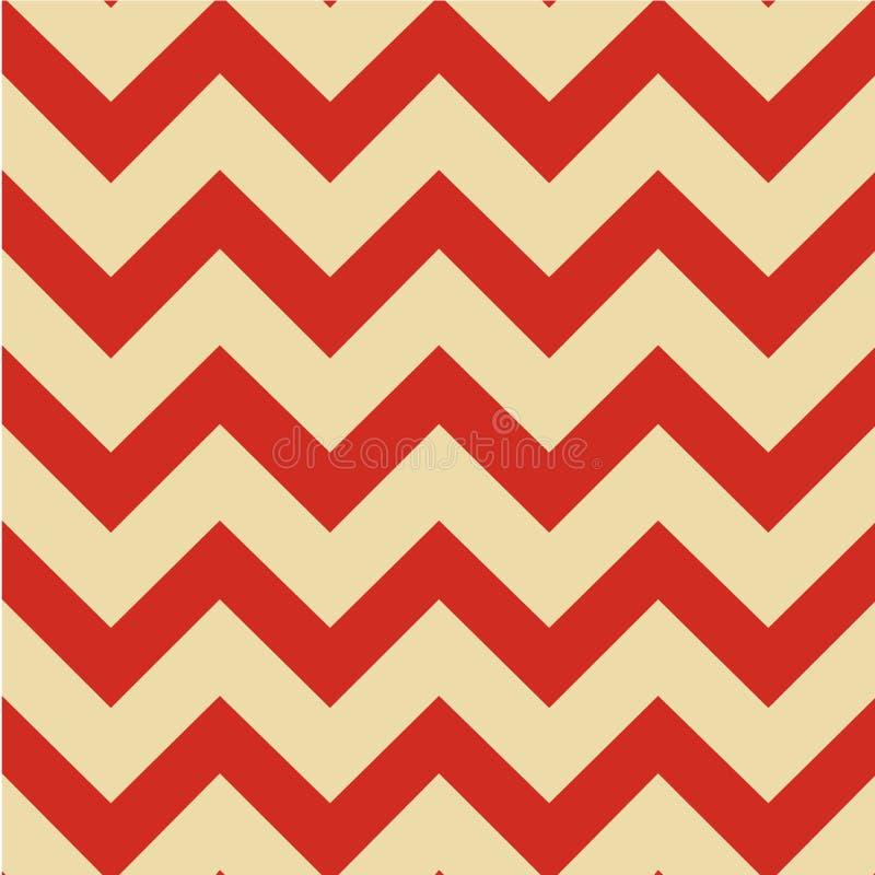 Zig-zag géométrique de motif de modèle de Chevron Illustration sans joint de vecteur illustration libre de droits