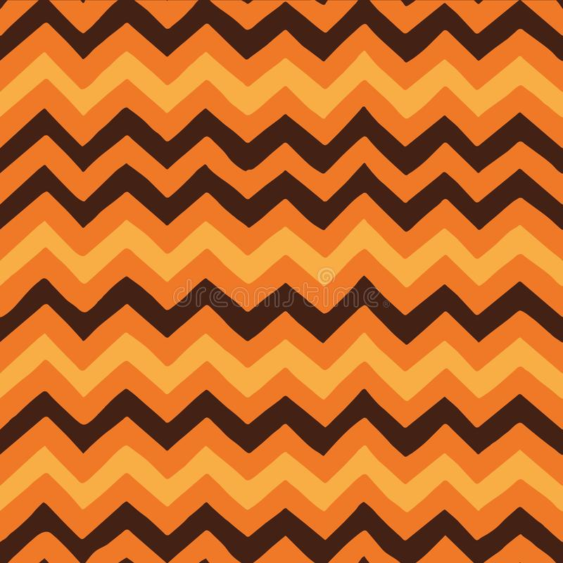 Zig Zag Lines Seamless Halloween Pattern royalty free stock photo