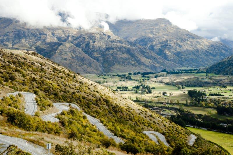 Zig Zag Road - New Zealand. Zig Zag Road in New Zealand royalty free stock photos