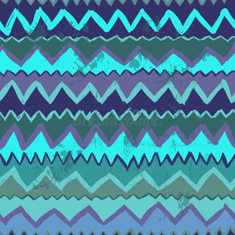 Zig zag seamless pattern stock illustration