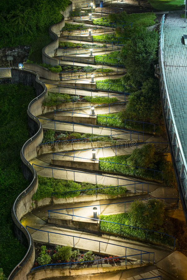 Zig Zag Walkway. In Chattanooga, Tennesse stock photos