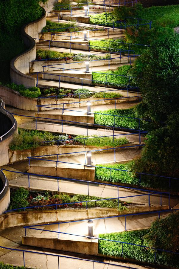 Zig Zag Walkway. In Chattanooga, Tennesse royalty free stock photo