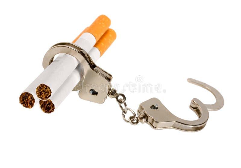 Zigarettengewohnheit stockfoto