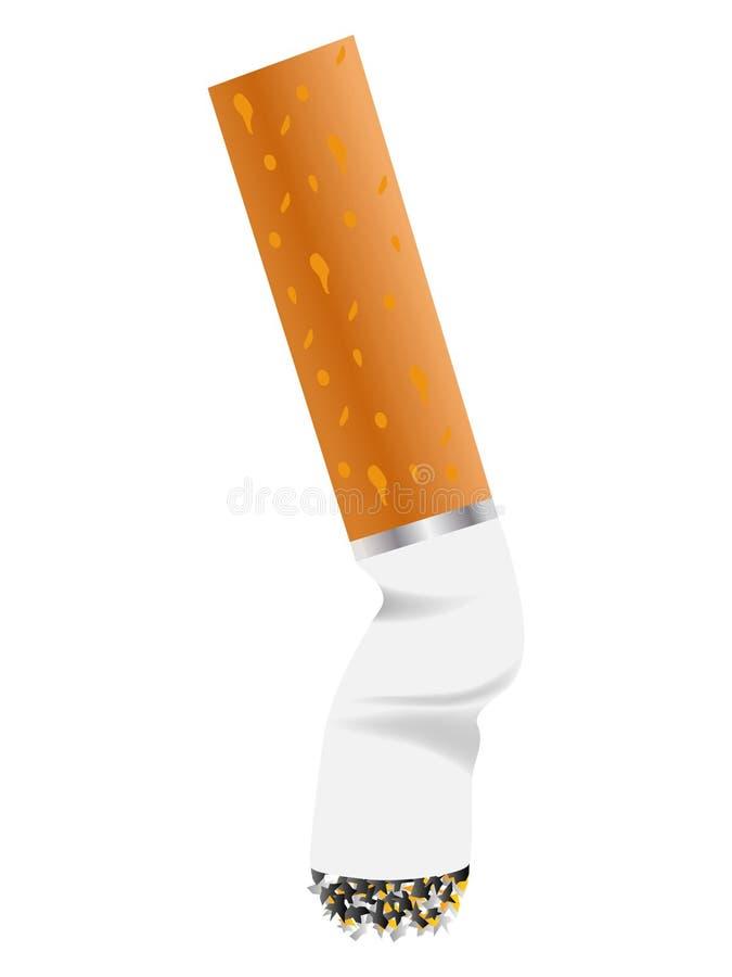 Zigarettenkippe vektor abbildung