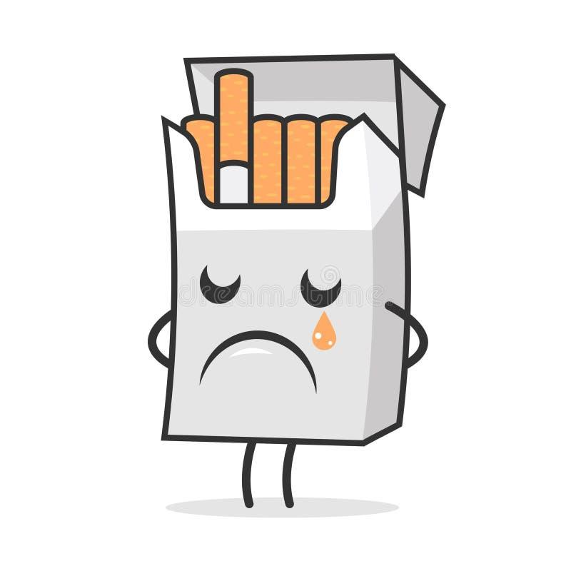 Zigarettensatz weint und traurig lizenzfreie abbildung