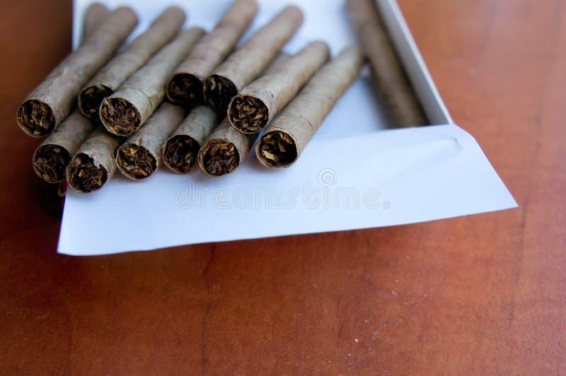 Zigarren in einem Kasten lizenzfreies stockfoto