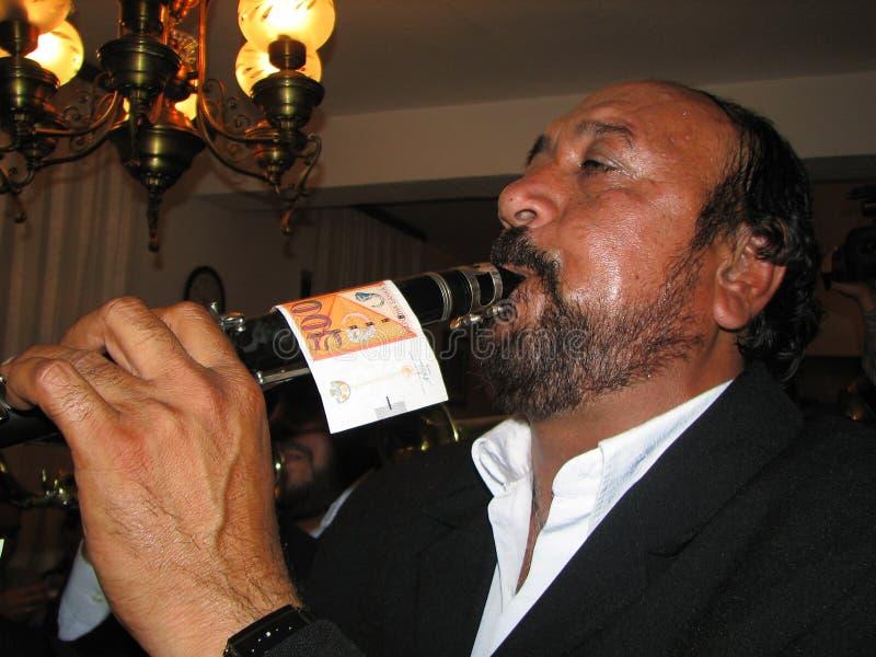 Zigensk Plying trumpet royaltyfria bilder