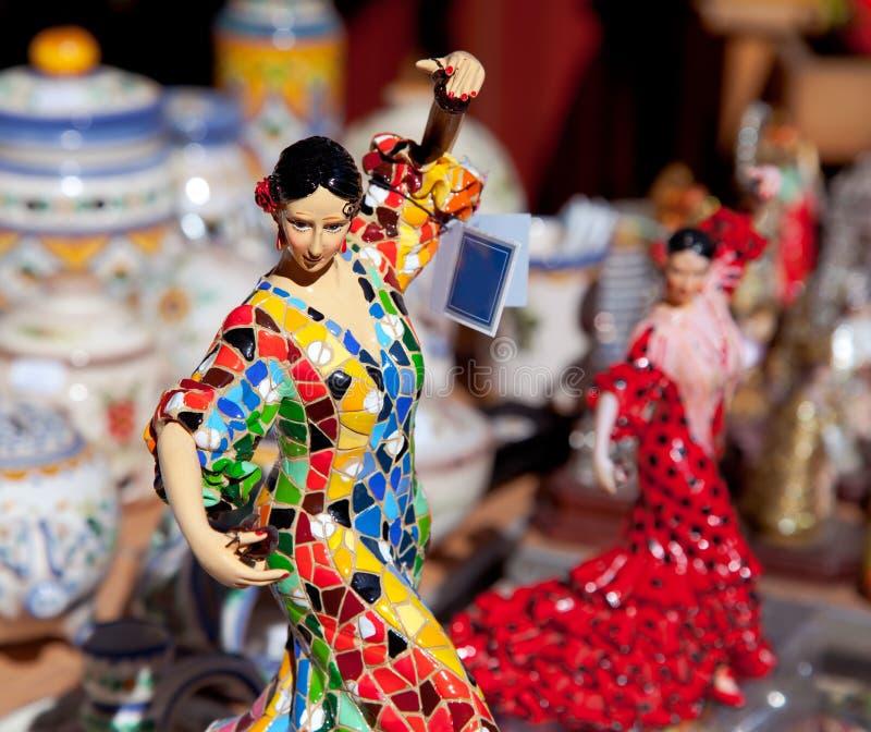 Zigeunerflamencotänzerfrauen-Statuefertigkeiten stockfoto