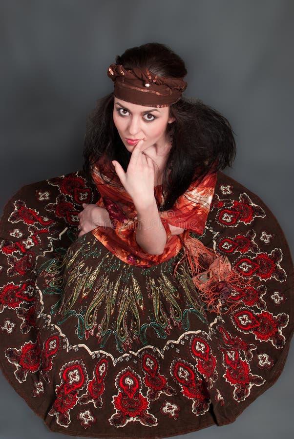 Zigeunerfrau stock abbildung