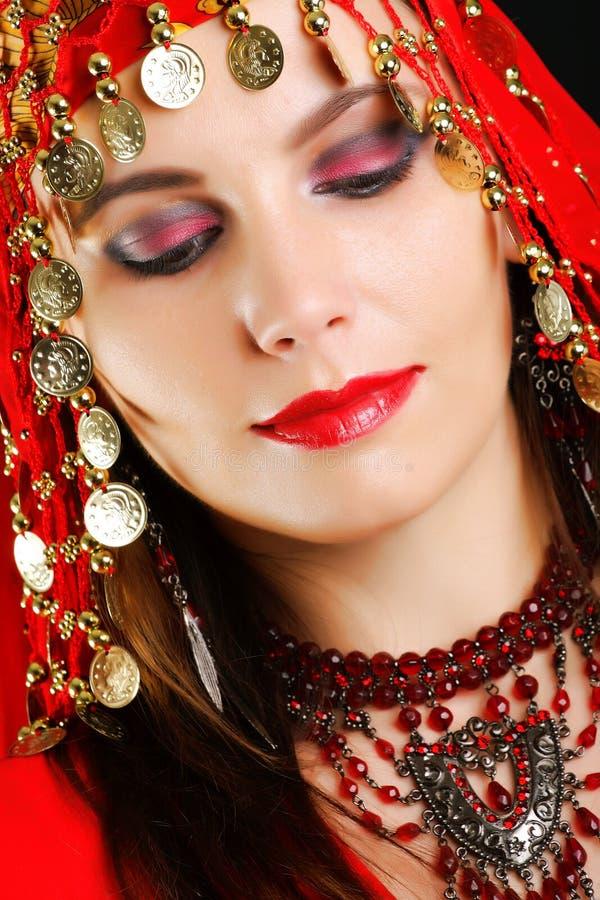 Zigeunertänzernahaufnahmeportrait lizenzfreies stockfoto