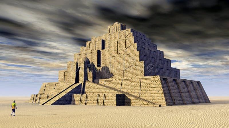 Ziggurat stock illustrationer