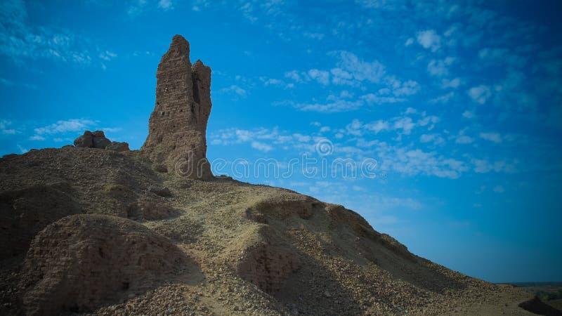 Ziggurat Birs Nimrud, de berg van Borsippa, Irak royalty-vrije stock afbeeldingen