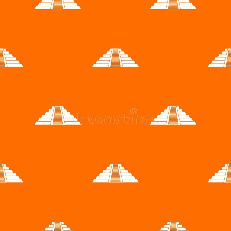 Ziggurat dans le modèle de Chichen Itza sans couture illustration de vecteur