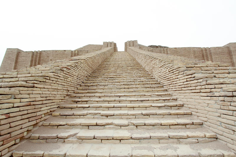 Ziggurat of Ur. Picture of Ziggurat of Ur and One of the most important monuments in Iraq and that goes back to the Sumerian period Which are located in the stock photos