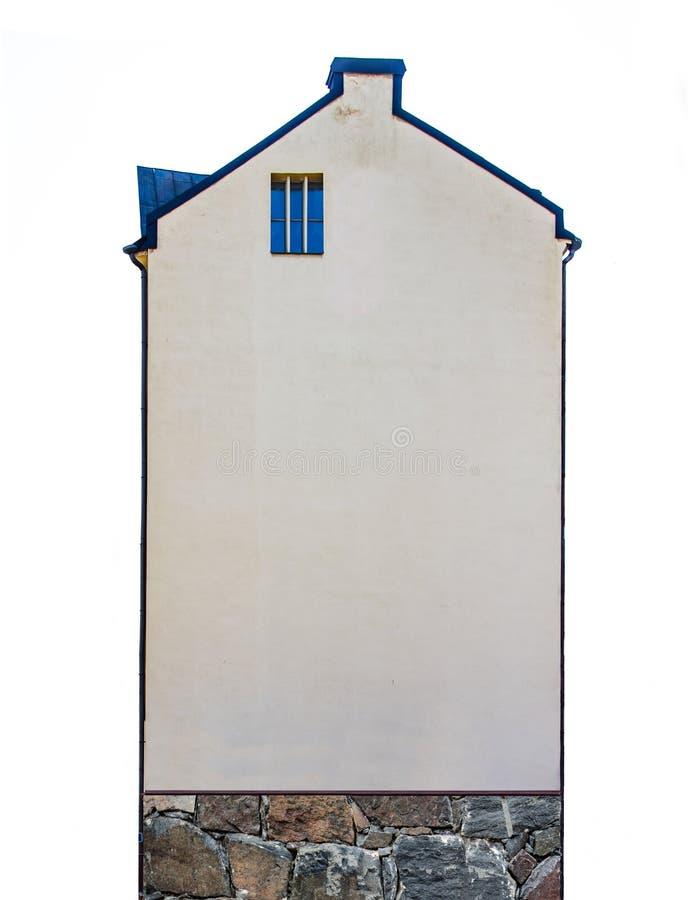 Ziguezague escandinavo A extremidade da construção com uma janela foto de stock
