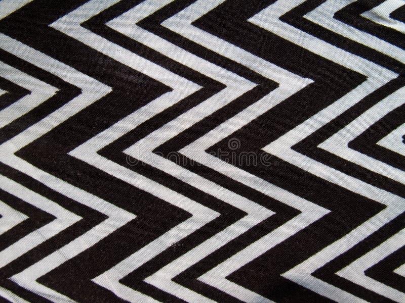 Ziguezague preto e branco imagem de stock
