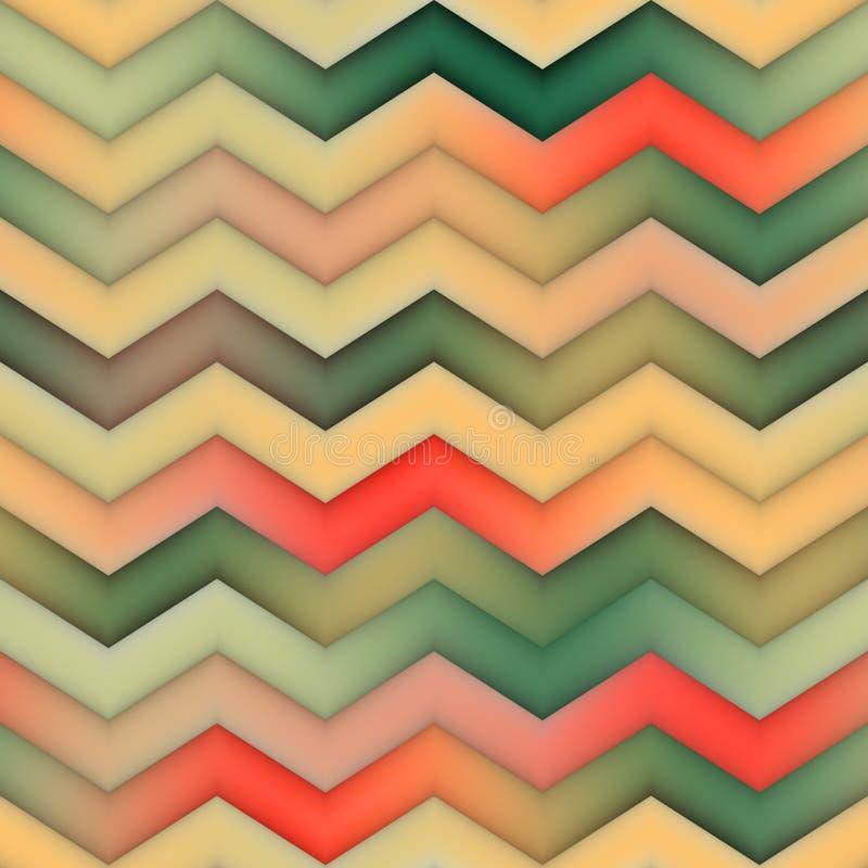 Ziguezague sem emenda Tan Gradient Chevron Pattern verde vermelha da quadriculação ilustração do vetor