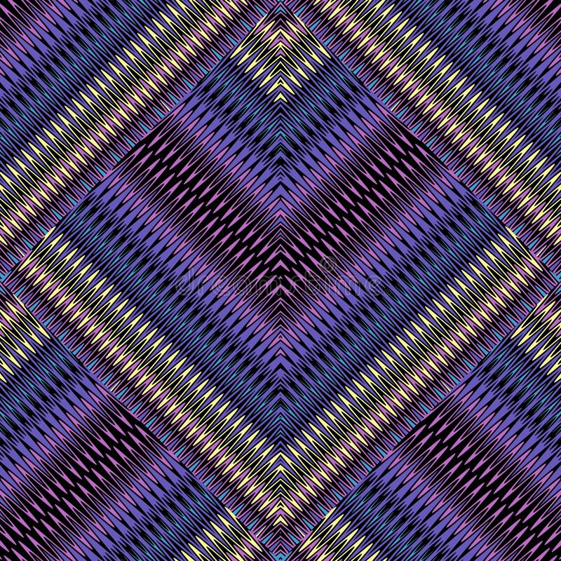 Free Zigzag 3d Seamless Pattern. Vector Textured Ornamental Zig Zag Background. Repeat Striped Backdrop. Chevron Ornament. Endless Stock Images - 192669804