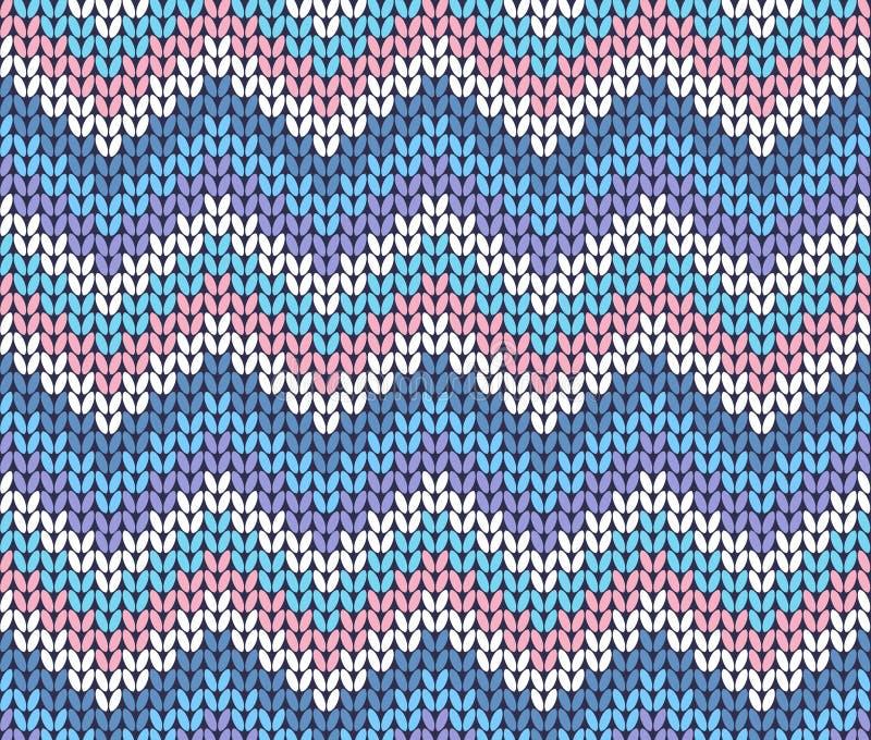 Zigzag abstrait tricoté par hiver ethnique frais illustration de vecteur
